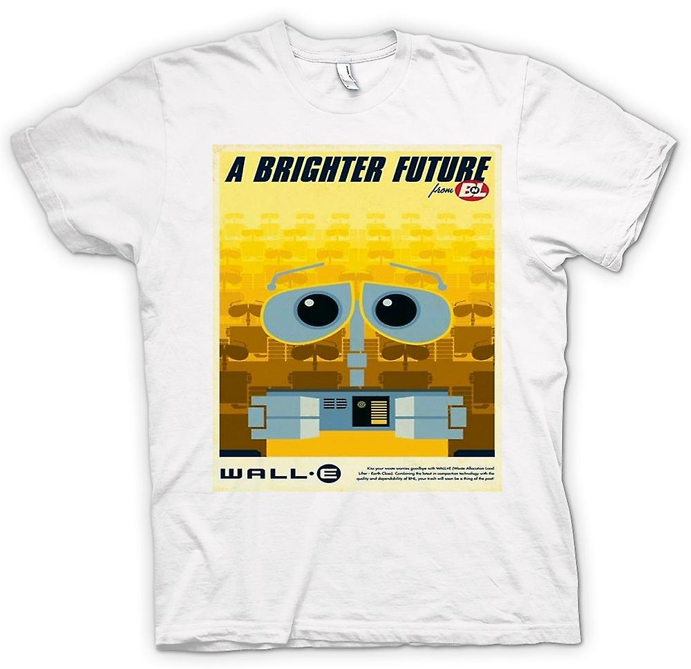 Mens T-shirt - Wall E - Brighter Future - Robot