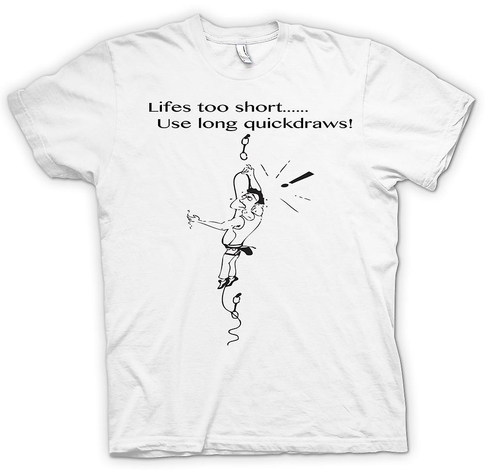 Womens T-shirt - Life's Too Short - Climbing Quickdraws