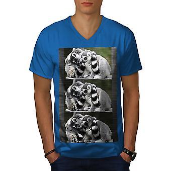 Lepricaun Nature Men Royal BlueV-Neck T-shirt   Wellcoda