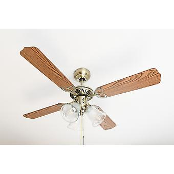 Westinghouse ceiling fan Princess Trio brass antique with lighting
