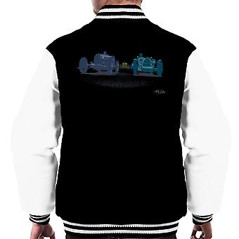 Bugatti Grand Prix 1920s Race Cars Art Men's Varsity Jacket