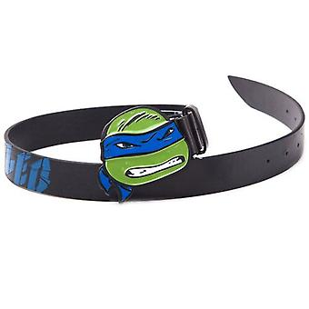 TEENAGE MUTANT NINJA TURTLES (TMNT) Black Belt with Leo Blue 2D Buckle, 85CM (BTY290810TNT-85)