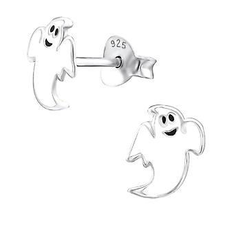 Ghost - 925 Sterling Silver Colourful Ear Studs - W24547x