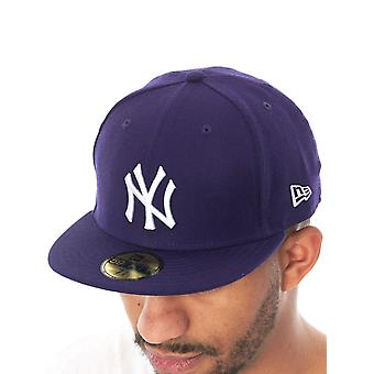 New Era Purple-White New York Yankees Fitted Cap