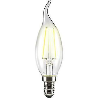 Sygonix LED EEC A++ (A++ - E) E14 Candle angular 2 W = 25 W Warm white (Ø x L) 35 mm x 120 mm Filament 1 pc(s)
