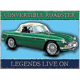 Mgb Convertible Roadster Small Metal Sign 200Mm X 150Mm