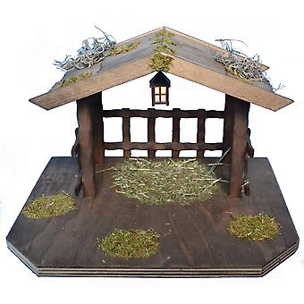 Was stable for animals with a Lantern for Christmas Nativity crib accessories