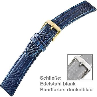 Blå ur rem læder kalv læder dame U. armbånd damer 18 mm