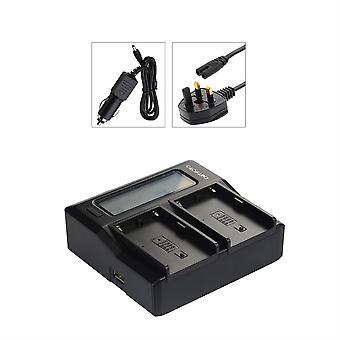 Dot.Foto Panasonic CGR-D08S, CGR-D16S, CGR-D28S, CGR-D54S, CGR-D110, CGR-D120, CGR-D220, carregador de bateria Dual CGR-D320 - saída USB de alimentação - 12v DC - UK [ver descrição para compatibilidade]
