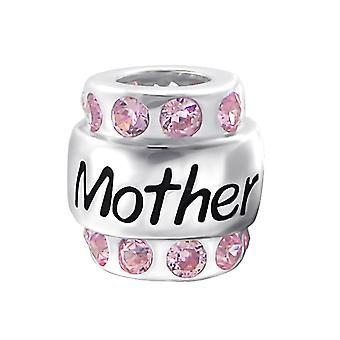 Mère - en argent Sterling 925 empierré Beads - W19829X