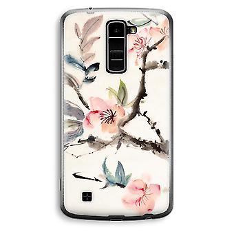 LG K10 (2016) Transparent Case (Soft) - Japenese flowers