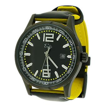 Saphir Mens Elegant Watch 500029B-1C - Slight Mark On Strap - Clearance Bargain