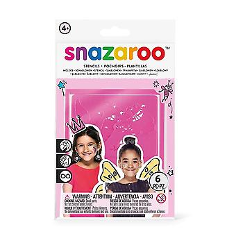 Snazaroo 1198014 Fantasy Face Paint Stencils - Set of 6