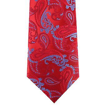 David Van Hagen Paisley corbata - rojo/azul