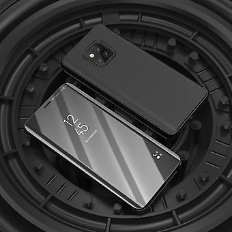 Für Xiaomi Redmi Note 6 Pro Clear View Spiegel Mirror Smartcover Schwarz Schutzhülle Cover Etui Tasche Hülle Neu Case Wake UP Funktion