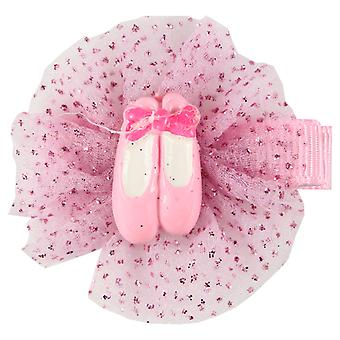 Molly & Rose Pink Ballet Ballerina Shoe Design Hair Slide