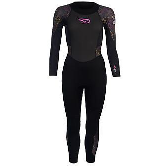 Gul mujeres núcleo alto de traje completo cuello Zip acoplamiento rápido secado deportes de estiramiento