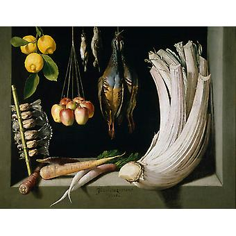 Still Life with Game, Vegetables, Juan Sanchez Cotan-, 50x40cm