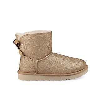 UGG MINI BAILEY BOW SPARKLE GOLD BOOT