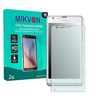 Sony Xperia M35c Screen Protector - Mikvon Clear (Retail Package with accessories)