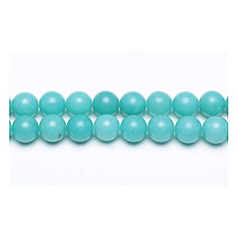 Strand 62+ Turquoise Malaysian Jade 6mm Plain Round Beads GS9949-2
