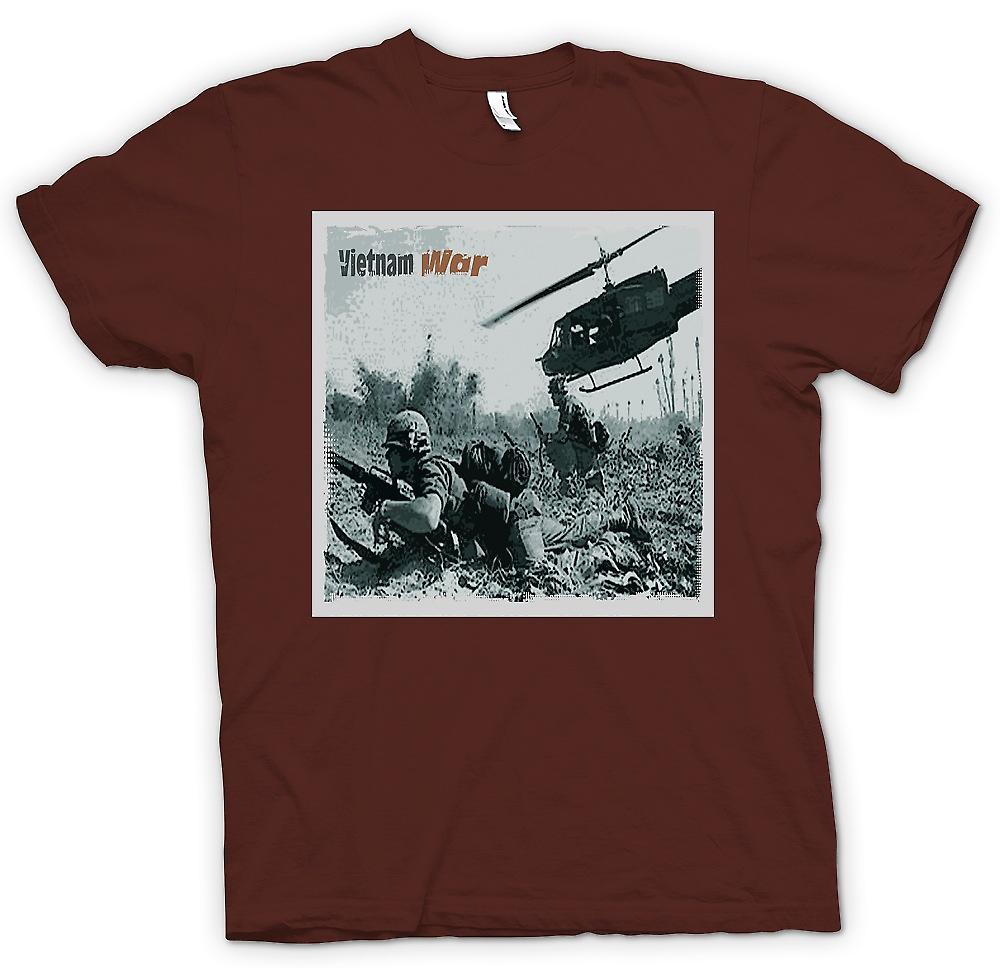 Herr T-shirt - Vitnam War - Action Foto