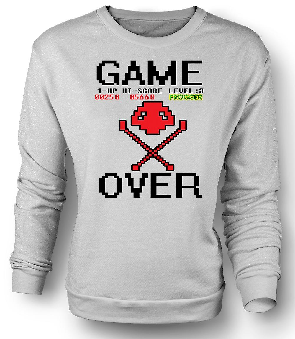 Mens Sweatshirt Frogger Game Over - jeu rétro 0 s
