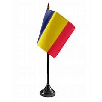 Drapeau de table Roumanie Stick et base