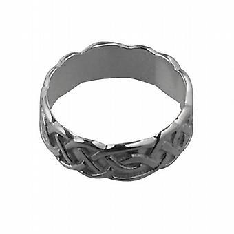 Zilveren 6mm Keltische trouwring grootte Q