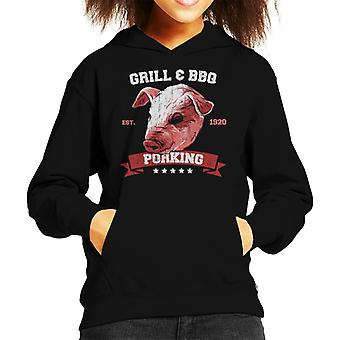 Porking Grill And BBQ Kid's Hooded Sweatshirt