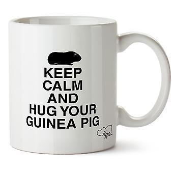 Hippowarehouse Keep Calm And Hug Your Guinea Pig Printed Mug Cup Ceramic 10oz