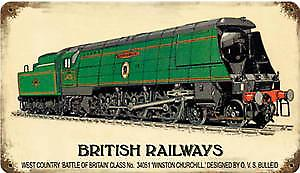 British Railways West Country rusted metal sign  (pst 148)