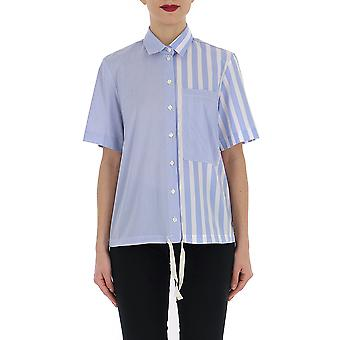 Semi-couture Light Blue/white Cotton Shirt