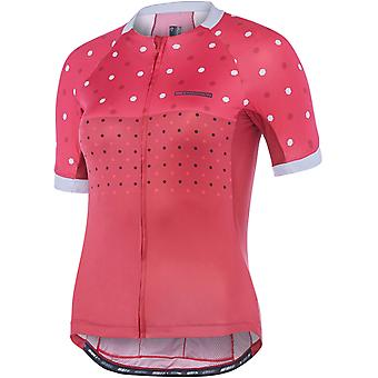 Madison Raspberry-Rio Red Hex Dots 2018 Sportive Apex Womens Short Sleeved Cycli