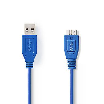 USB 3.0 Cable A Male to Micro B Male 1.0 m Blue Charge Data Sync