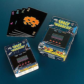 Space Invaders set of 52 playing cards in tin (aby)