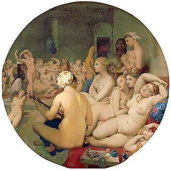 The Turkish Bath,Jean-Auguste Dominique Ingres,50x50cm