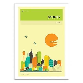 Art-Poster - Sydney Travel Poster - Jazzberry Blue 50 x 70 cm