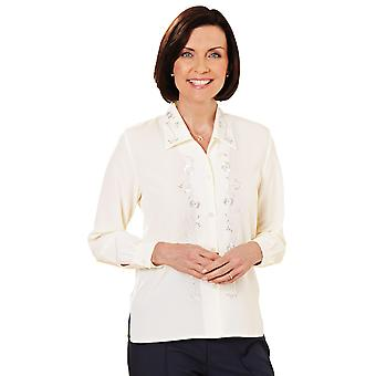 Ladies Womens Embroidered Blouse