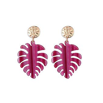 Jewelcity Sunkissed Womens/Ladies Exotic Leaf Earrings