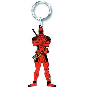 PVC sleutelhanger-Marvel-Deadpool nieuwe geschenken speelgoed rubber gelicentieerd 68108