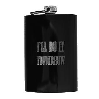 8oz black i'll do it tomorrow flask l1