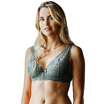 Guy de France 19010-3 Women's Khaki Green Lace Underwired Padded Bra