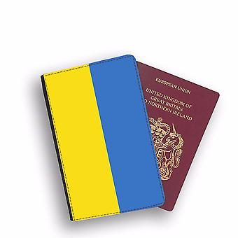 UKRAINE Flag Passport Holder Style Case Cover Protective Wallet Flags design