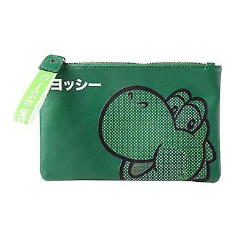 Super Mario Coin Monedero Yoshi Face Japonés Logo nuevo oficial Nintendo Green