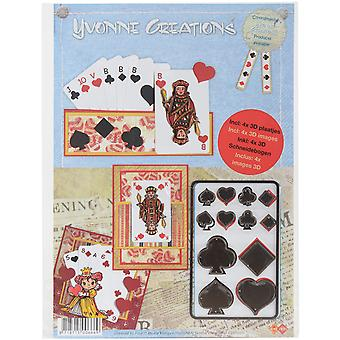 Find It Trading Yvonne Creations Men's Die-Playing Cards CDD10011