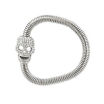 Butler & Wilson Crystal Skull Soft Chain Magnet Bracelet