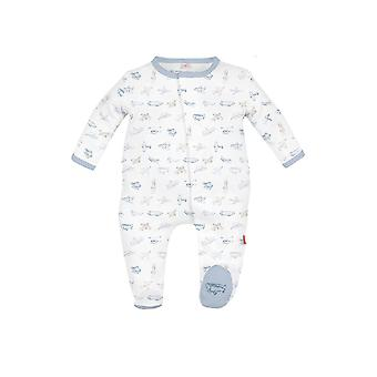 Magnificent Baby Magnetic Me™ Airplanes Baby Boy Footie