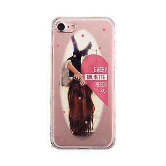 Brunette Best Friend Transparent Phone Case Cute Clear Phonecase