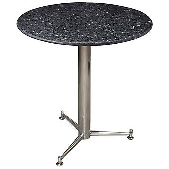 Payson Marble/ Granite Round/Square Dining Kitchen Table Or Stainless Steel Frame - Brushed Steel Base